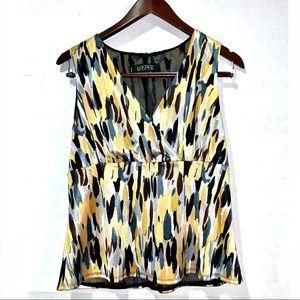 Alfani abstract print satiny sleeveless blouse